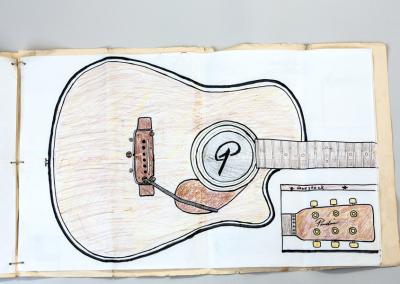 Predice Hendricks Acoustic Tremolo Custom Guitar Patent Drawings