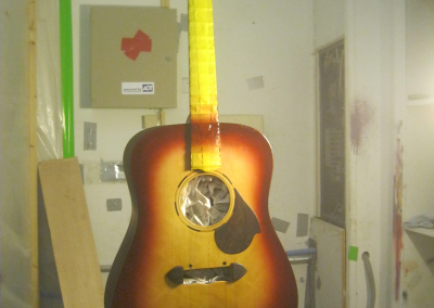 Custom Guitar with the P.HA.T. System in the Paint Booth